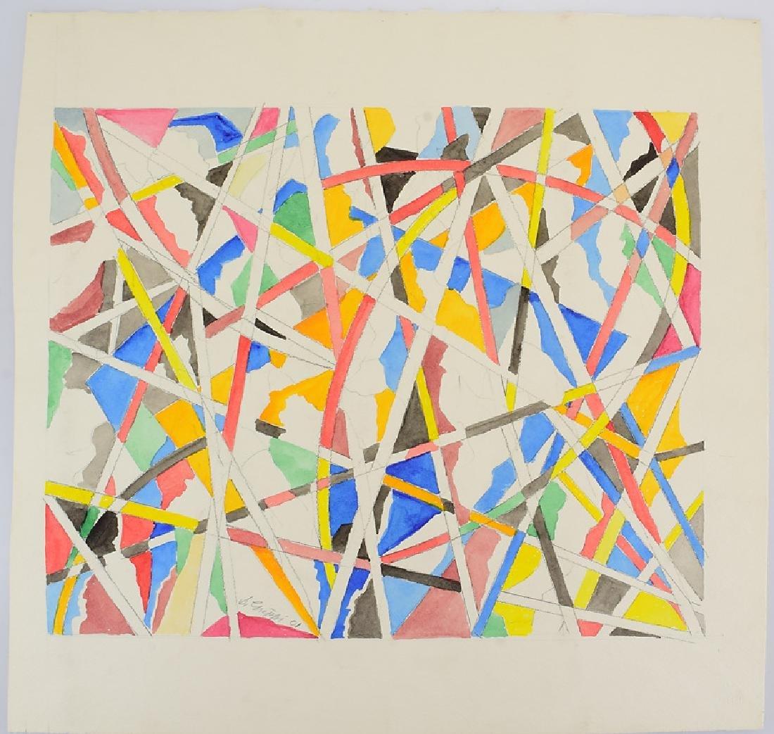 3Pcs Watercolor & Pencil SALVATORE GRIPPI GEOMETRIC - 7