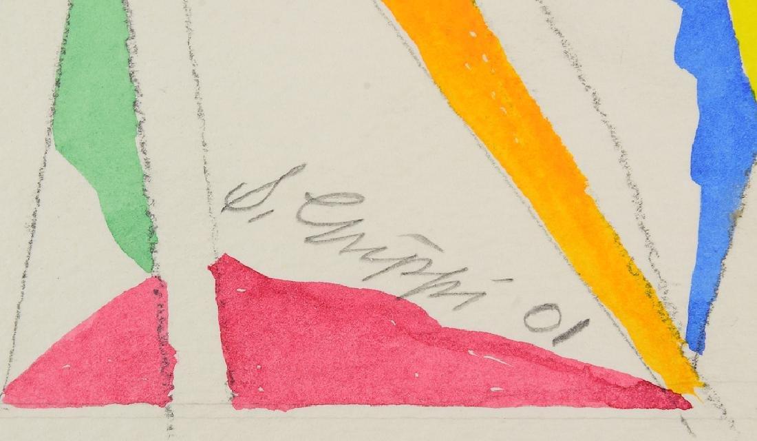 3Pcs Watercolor & Pencil SALVATORE GRIPPI GEOMETRIC - 8