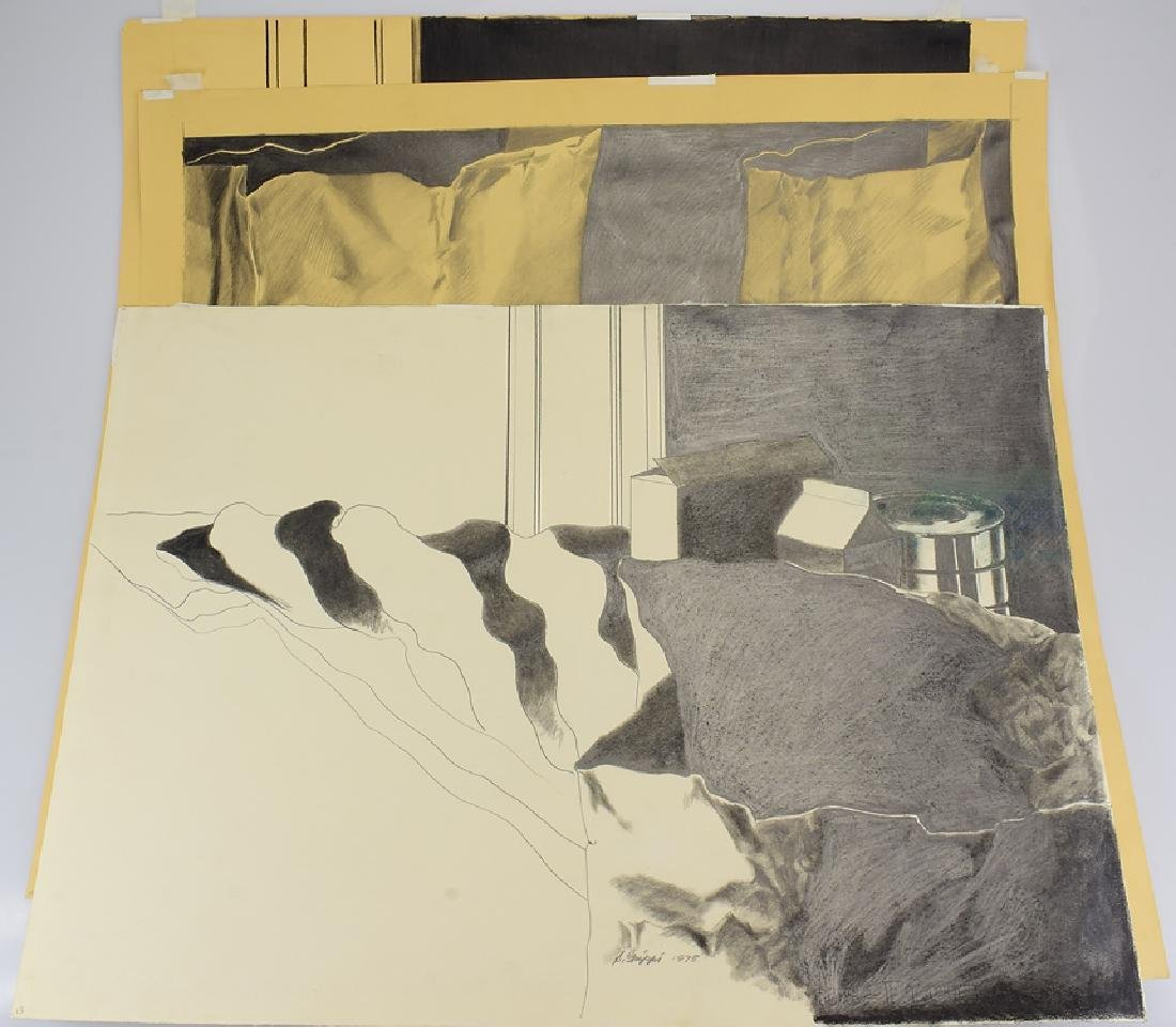 3pcs Still-Life Drawings ORIGINAL SALVATORE GRIPPI