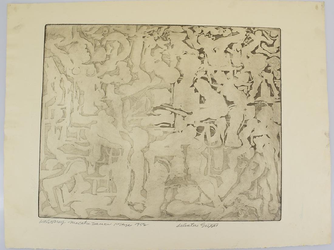 5pcs Etchings Prints Proofs EARLY SALVATORE GRIPPI - 4