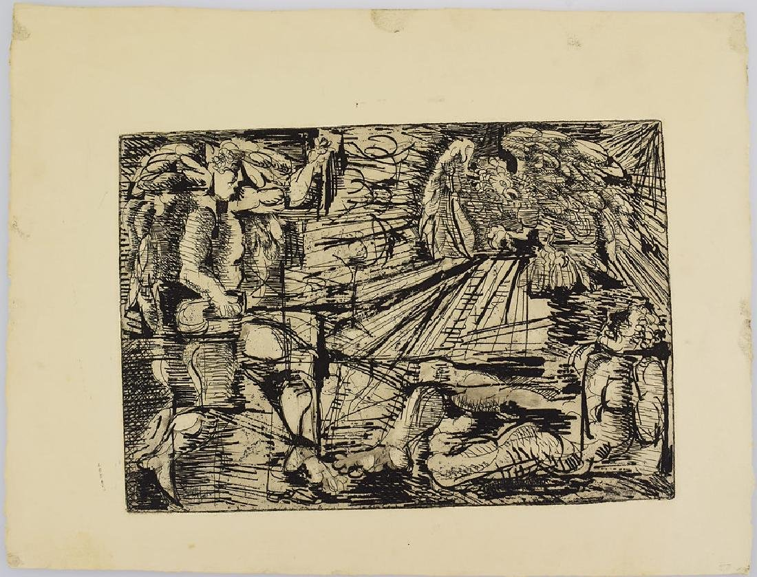 5pcs Etchings Prints Proofs EARLY SALVATORE GRIPPI - 8
