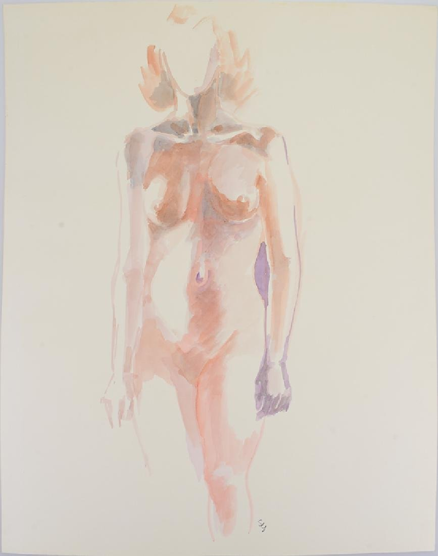 Nude Watercolor Study ORIGINAL SALVATORE GRIPPI