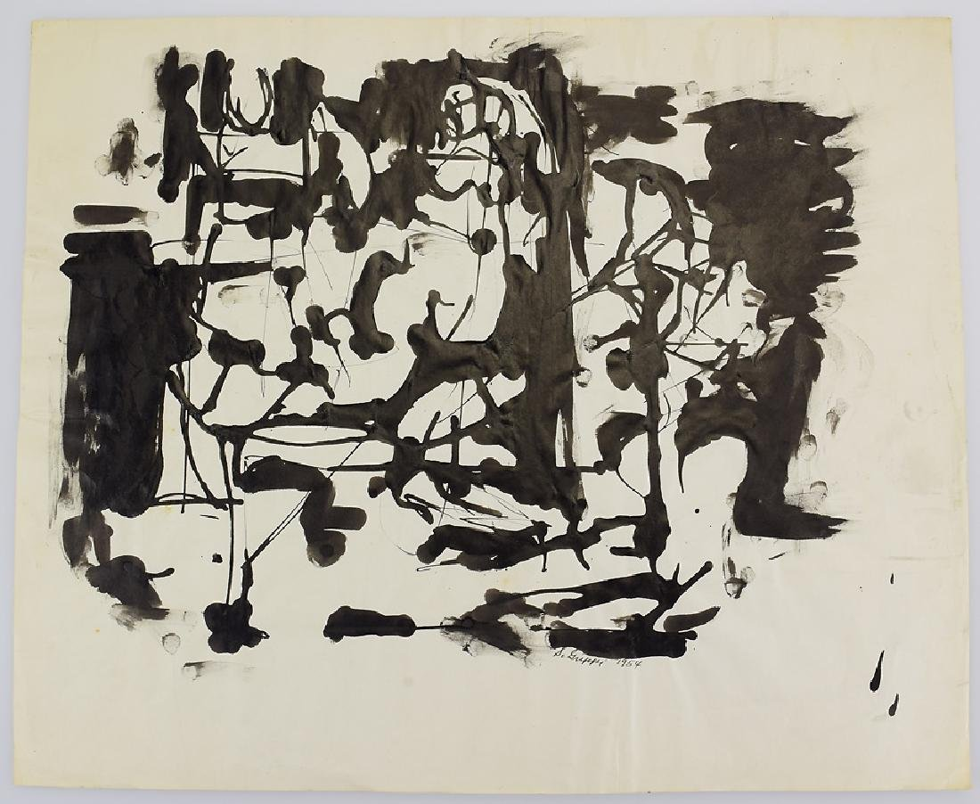 Ink On Paper EARLY SALVATORE GRIPPI ORIGINAL ABSTRACT
