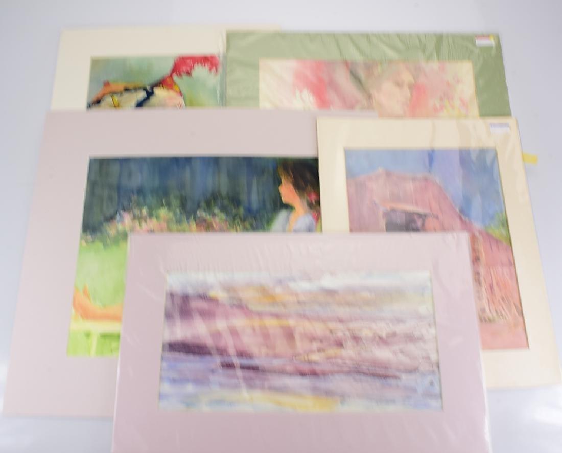 5pcs Watercolor Landscapes/Portraits ORIGINAL ARTIST