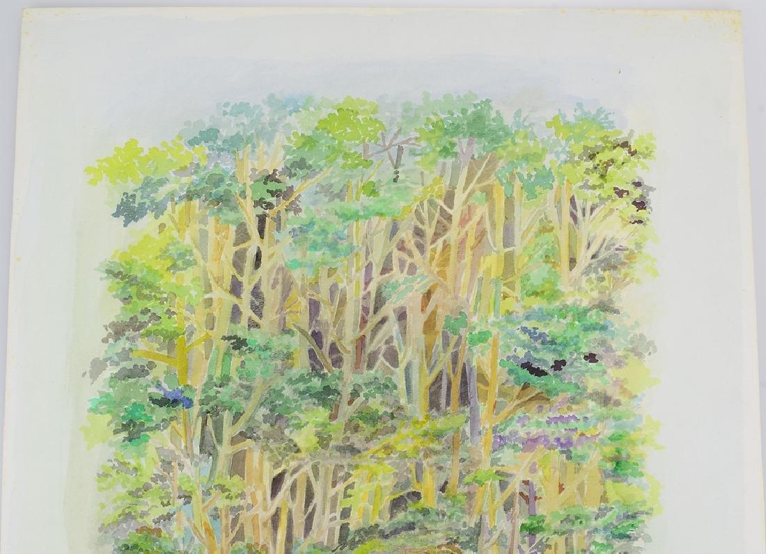 2pcs Original Watercolor Landscapes SALVATORE GRIPPI - 3