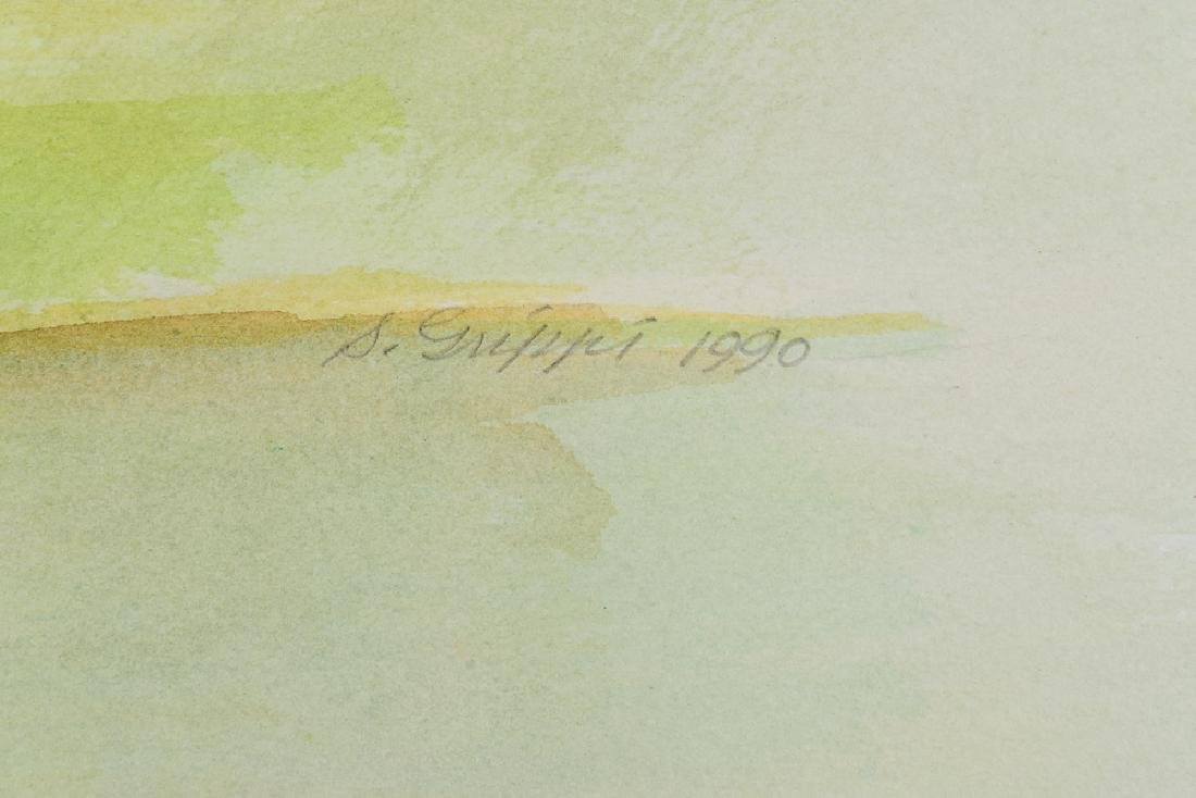 2pcs Original Watercolor Landscapes SALVATORE GRIPPI - 5
