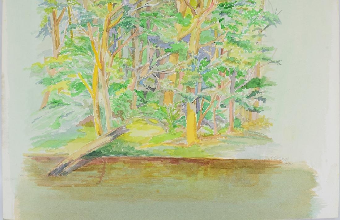 2pcs Original Watercolor Landscapes SALVATORE GRIPPI - 8
