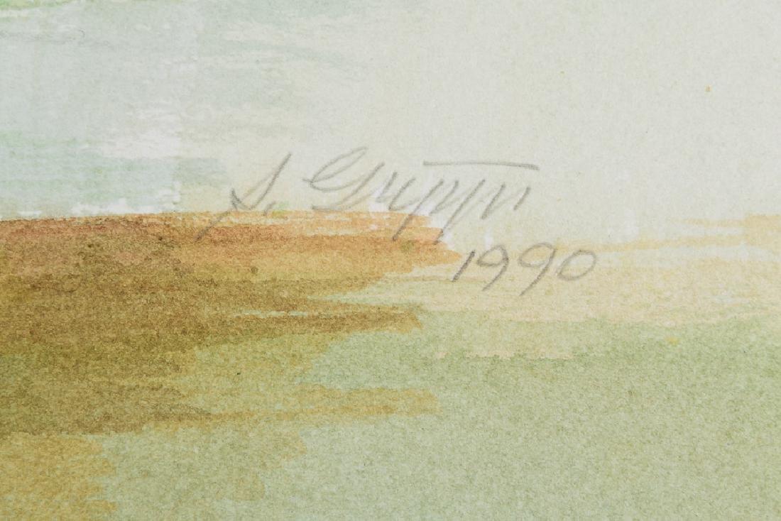 2pcs Original Watercolor Landscapes SALVATORE GRIPPI - 9