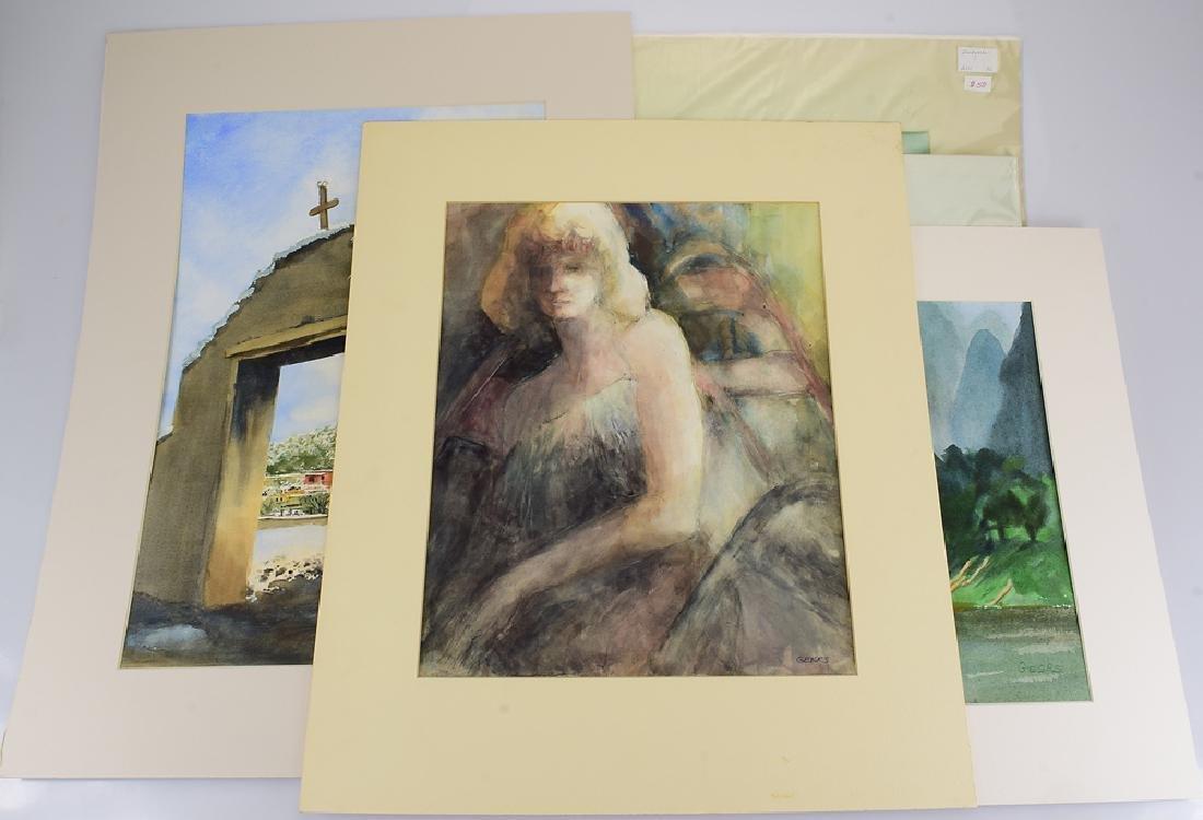 5pcs Original Watercolor Paintings PEGGY GEERS