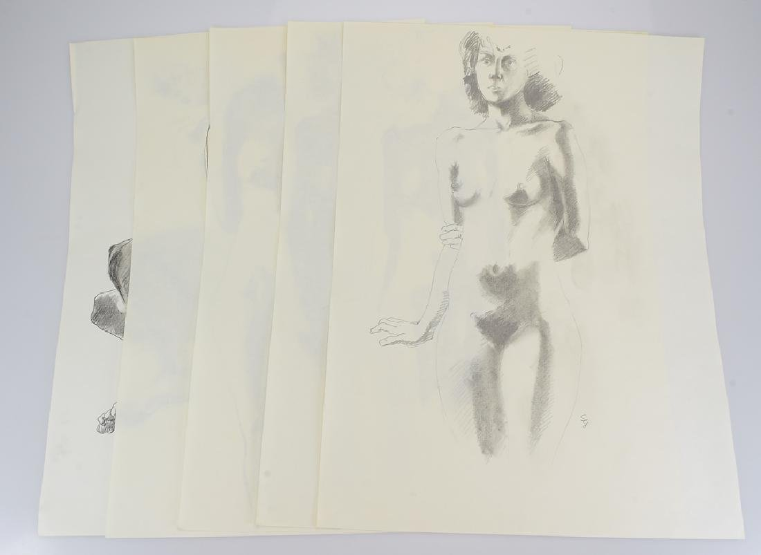 5pcs Original Pencil Drawings SALVATORE GRIPPI STUDIES