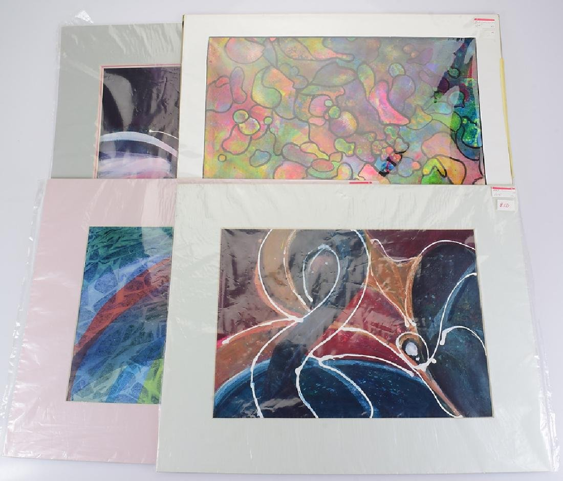 4pcs Original Abstract Paintings PEGGY GEERS