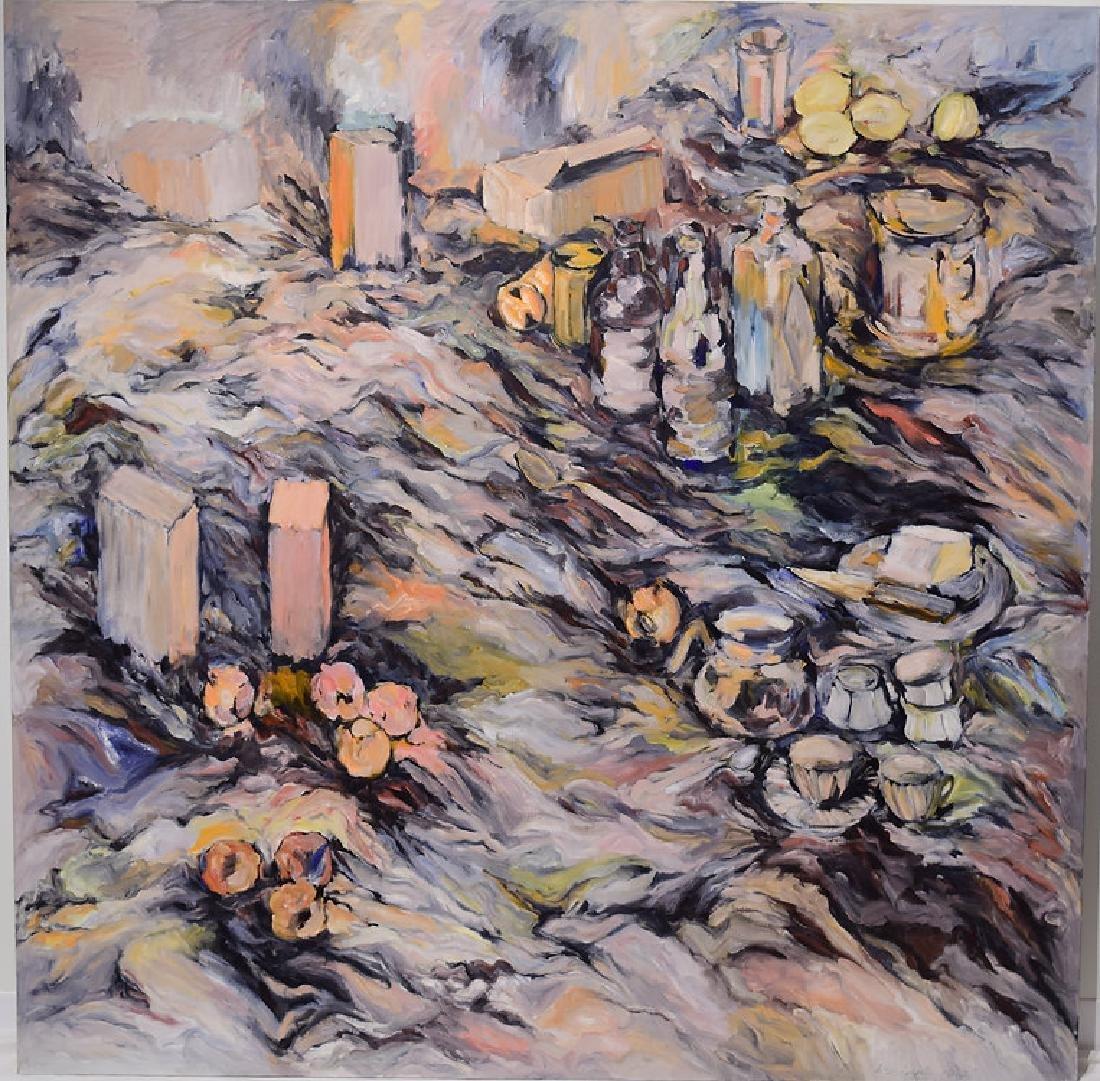 Expressionist Still-Life SALVATORE GRIPPI OIL ON CANVAS