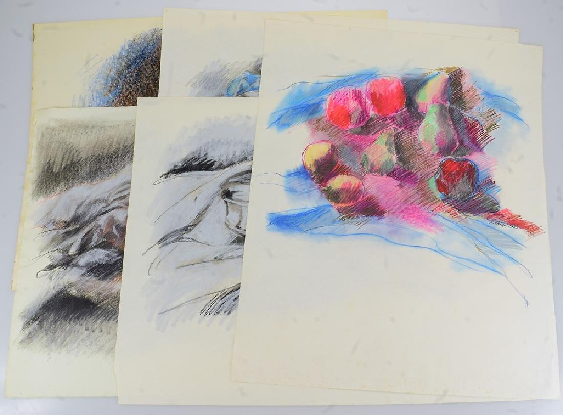 5pcs Original Pastel Artwork SALVATORE GRIPPI