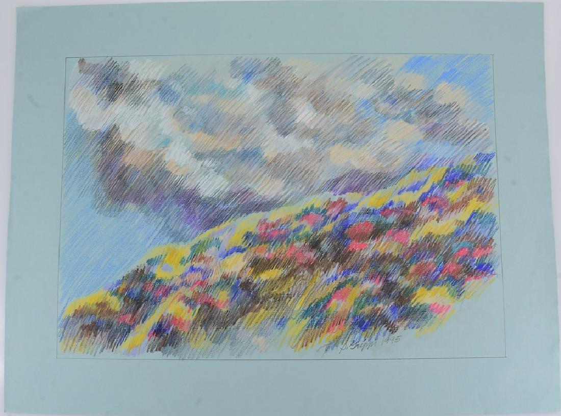 4pcs Pastel & Colored Pencil SALVATORE GRIPPI LANDSCAPE - 4