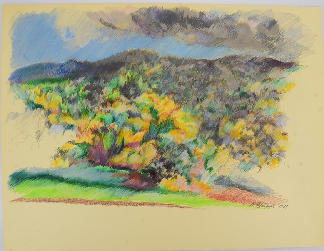 4pcs Pastel & Colored Pencil SALVATORE GRIPPI LANDSCAPE - 6