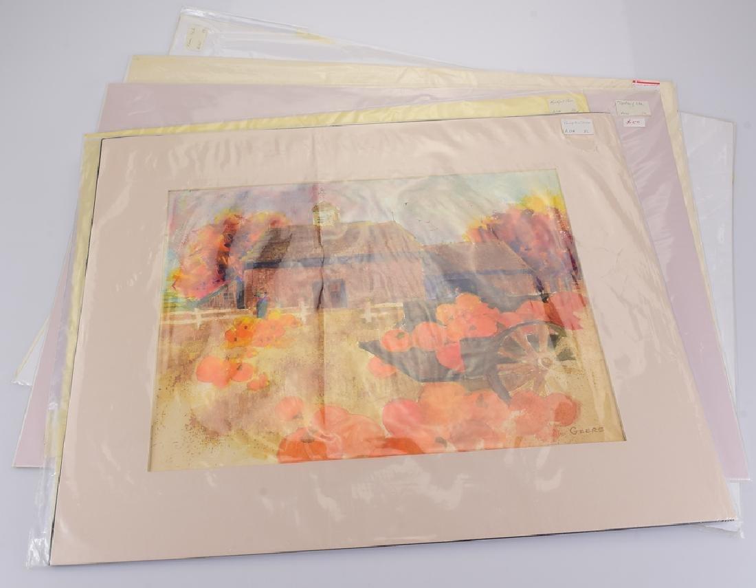 5pcs Original Watercolor Paintings ARTIST SIGNED PEGGY