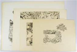 4Pcs Original Artwork EARLY VINTAGE SALVATORE GRIPPI