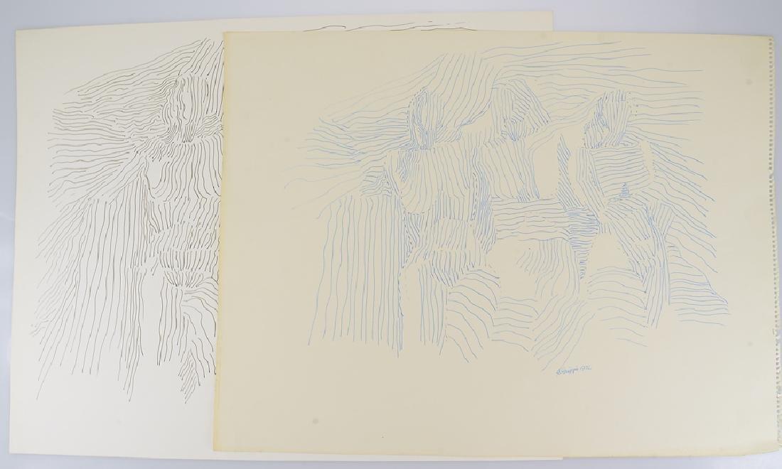 2pcs Figurative Abstract Expressionist ORIGINAL