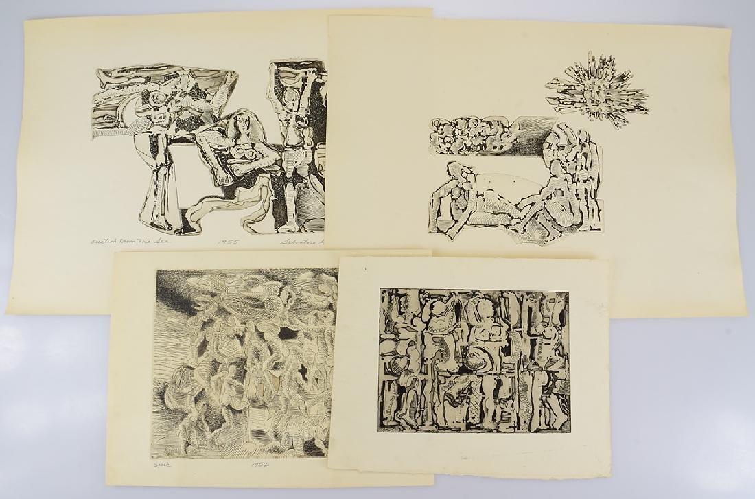 4Pcs Woodcuts Artist Proofs EARLY SALVATORE GRIPPI