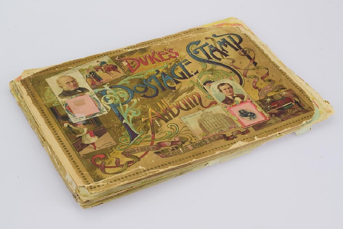Antique Victorian DUKE'S POSTAGE STAMP ALBUM 1889