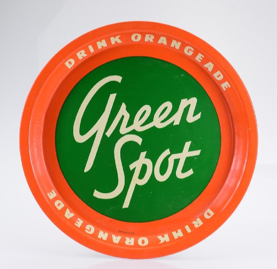 Decorative Round VINTAGE GREEN SPOT SIGN Drink