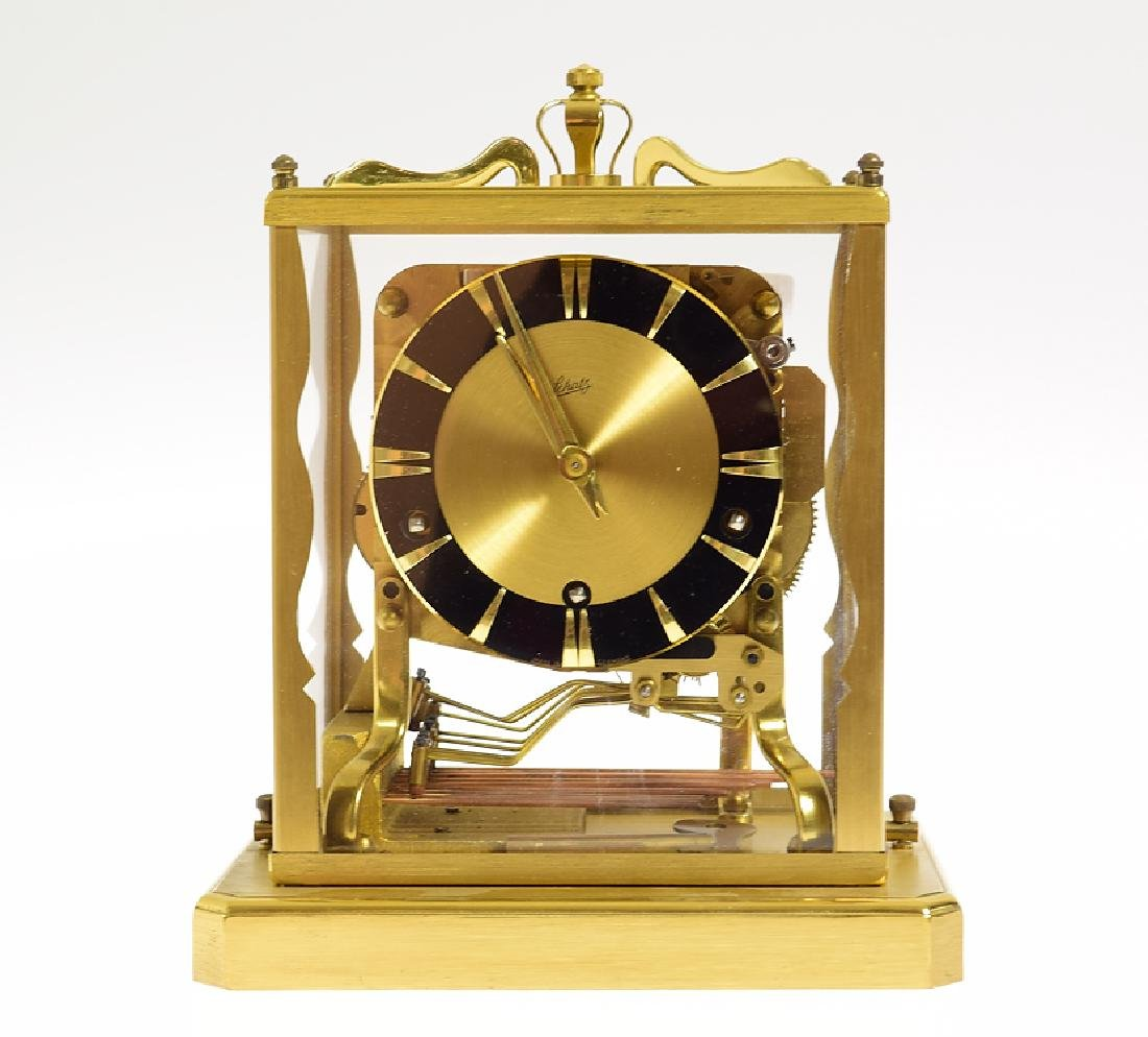Brass Mantel Clock AUG SCHATZ & SOHNE c1950s Triple