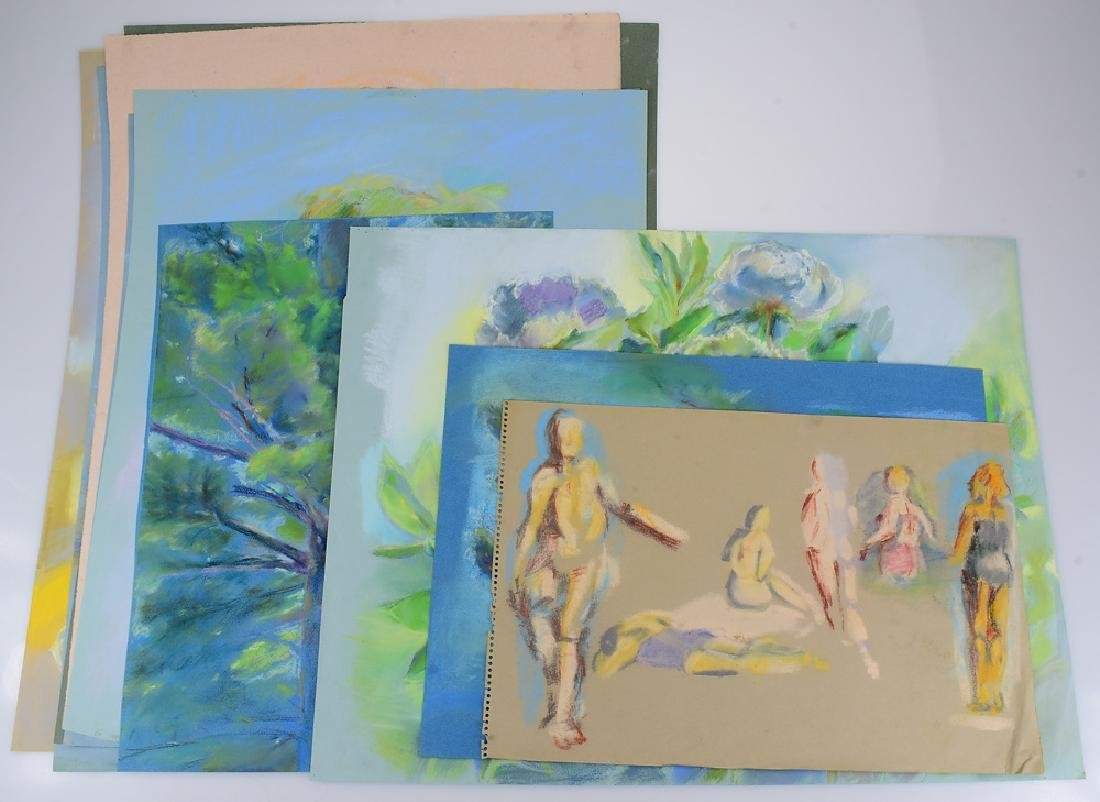 10pcs Original Pastel Drawings ROSALIND GRIPPI