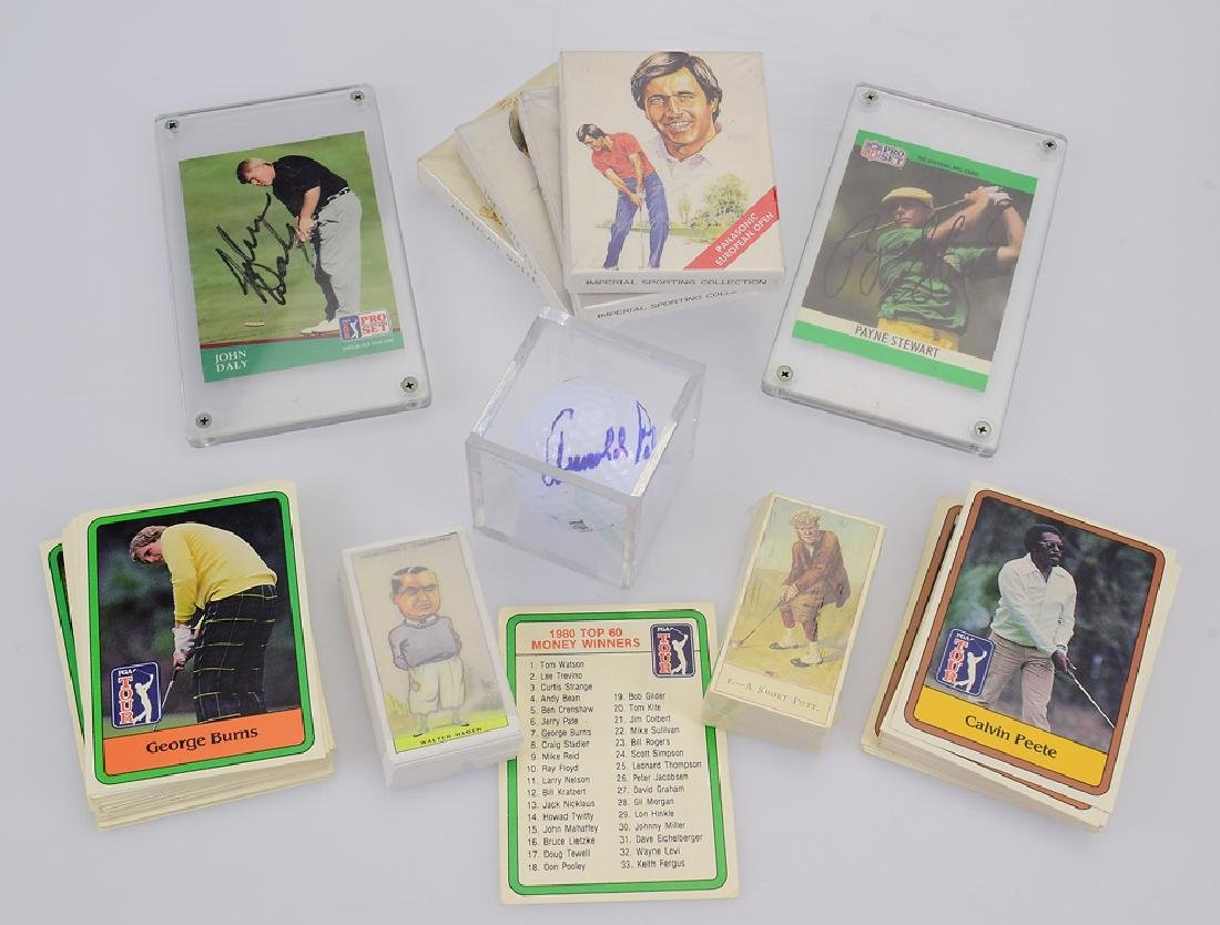 Golfing Collectibles GOLF TRADING CARDS & MEMORABILIA
