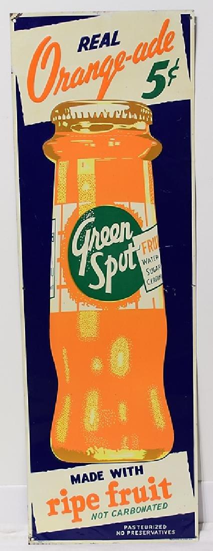 Orange-ade VINTAGE GREEN SPOT ADVERTISEMENT SIGNS