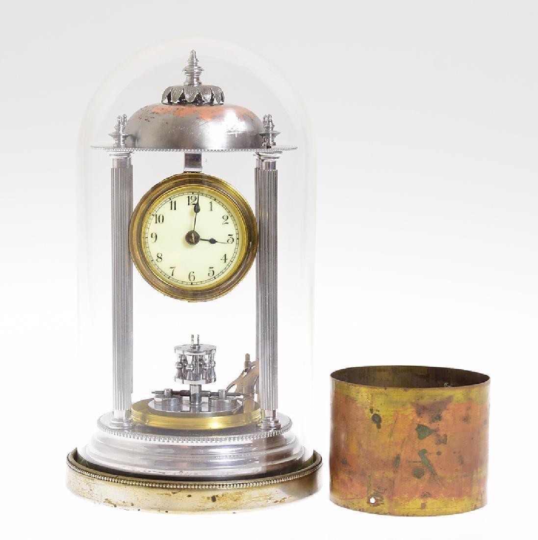 Philip Hauck RARE ANTIQUE MINIATURE BANDSTAND CLOCK