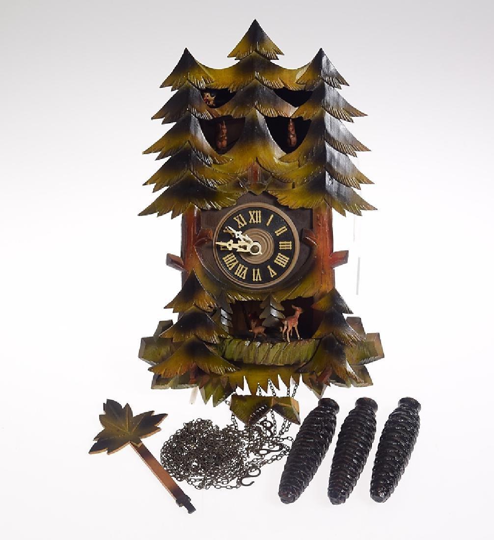 Vintage German Clock BLACK FOREST ONE-DAY MUSICAL