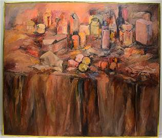 Abstract Expressionist Painting SALVATORE GRIPPI 1964