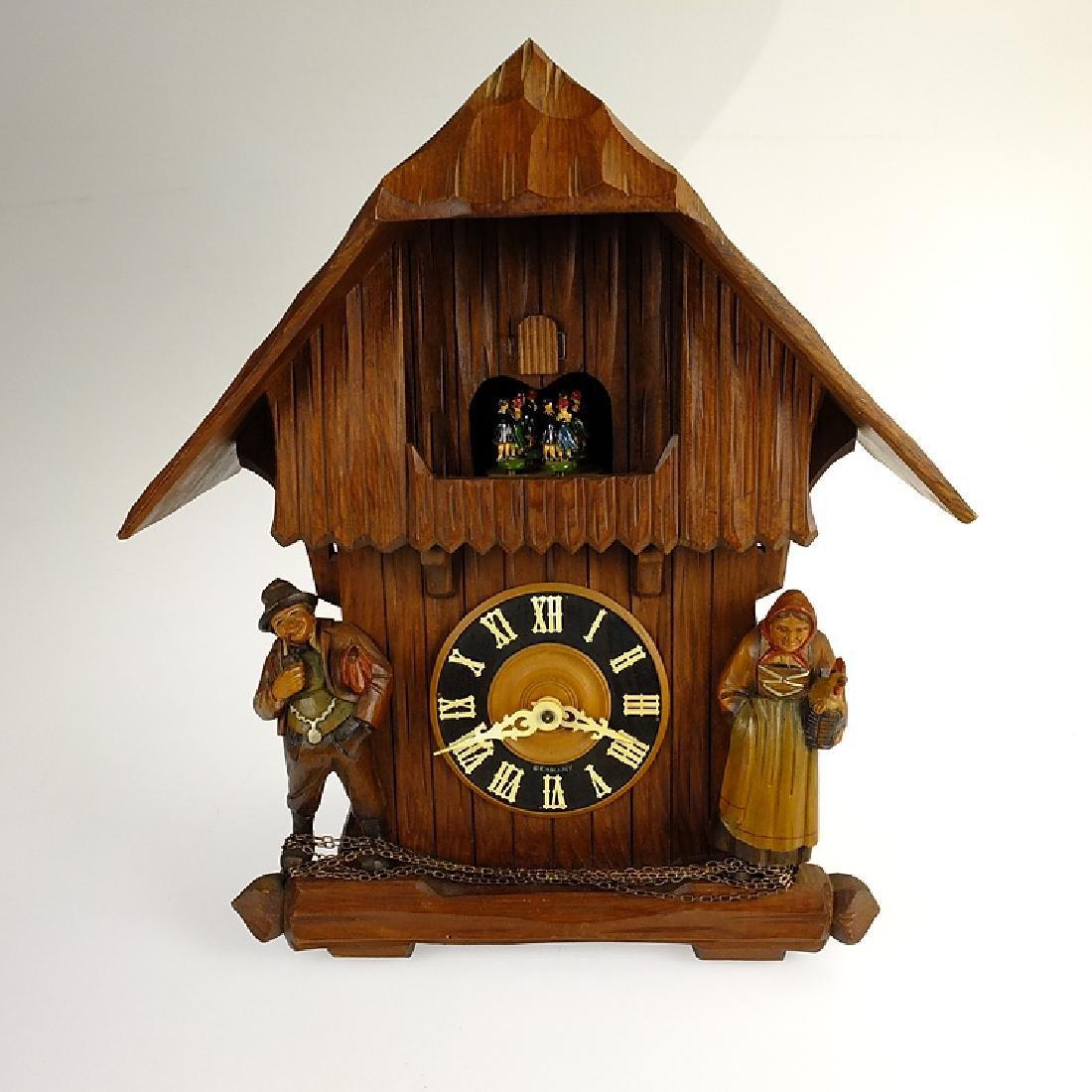 Vintage Cuckoo Clock EXCELLENT CONDITION VINTAGE BLACK