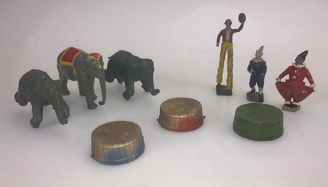 9pcs Britain's Mammoth Circus COLLECTIBLE CAST METAL