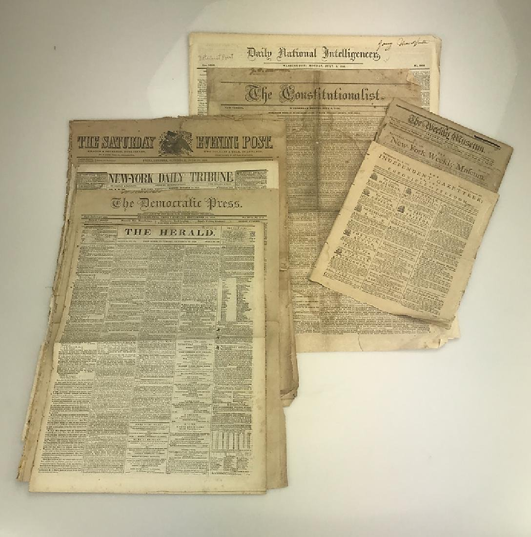8pcs Collectible Antique Newspapers AMERICAN HISTORY &