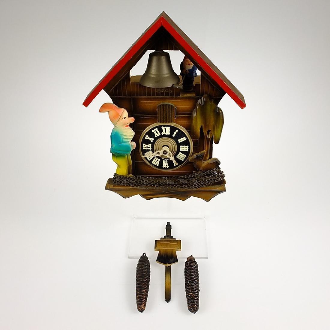 Elf Bell Ringer CUCKOO CLOCK BLACK FOREST CLOCK HECO - 2