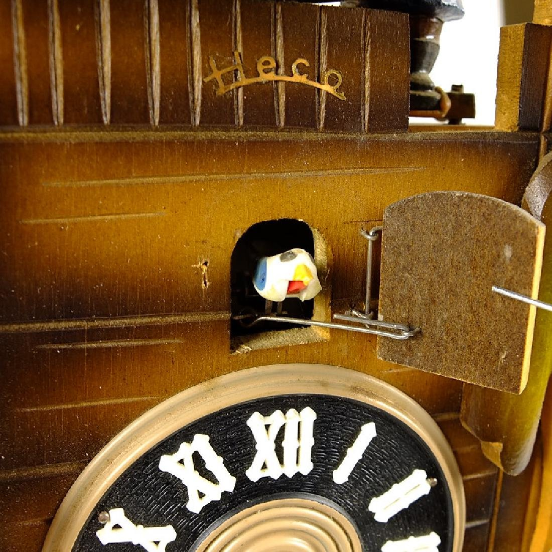Elf Bell Ringer CUCKOO CLOCK BLACK FOREST CLOCK HECO - 6