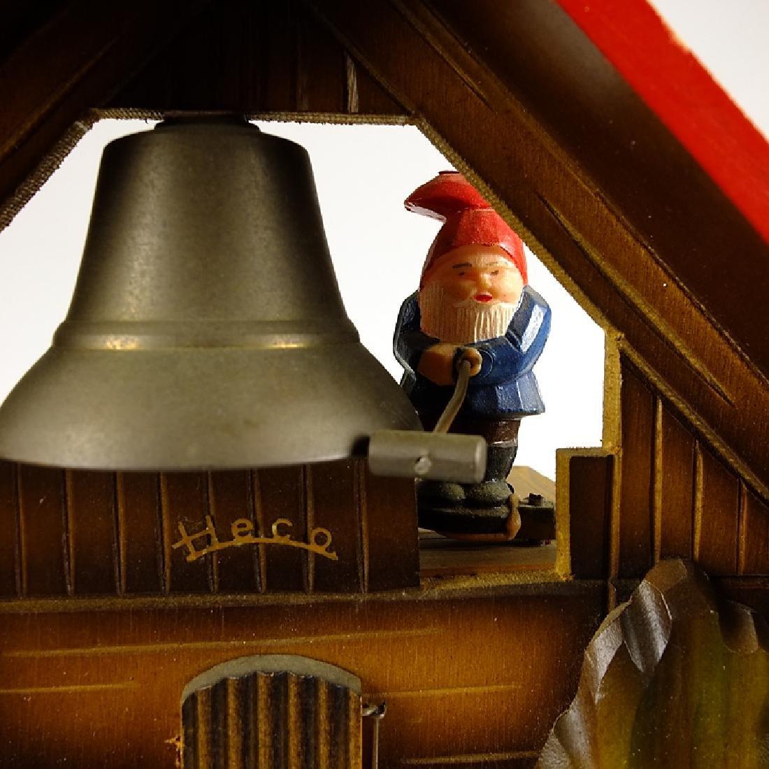 Elf Bell Ringer CUCKOO CLOCK BLACK FOREST CLOCK HECO - 7