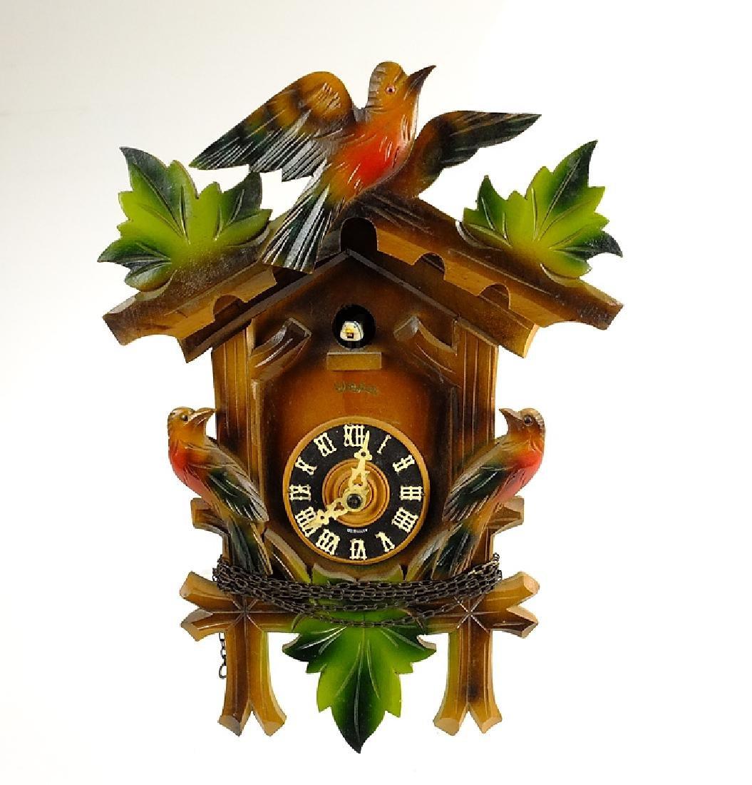 Vintage Heco Clock CUCKOO CLOCK BLACK FOREST CLOCK