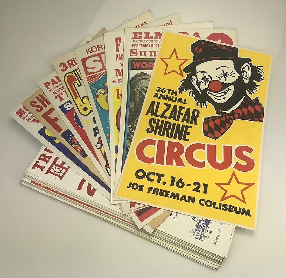 40pcs Circus Poster Board CIRCUS FAIR & CARNIVAL