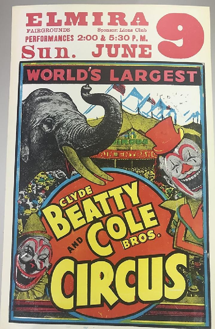 40pcs Circus Poster Board CIRCUS FAIR & CARNIVAL - 3
