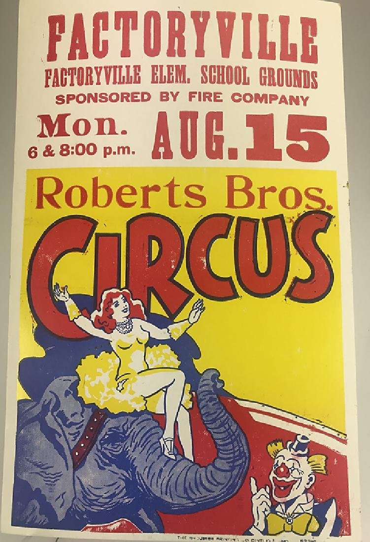 40pcs Circus Poster Board CIRCUS FAIR & CARNIVAL - 4