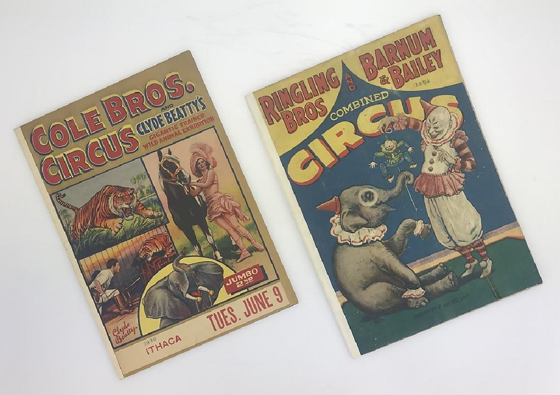 2pcs Antique Circus Programs RINGLING BROS & BARNUM &