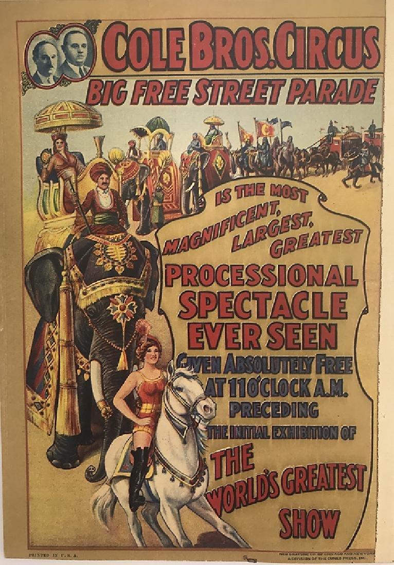 2pcs Antique Circus Programs RINGLING BROS & BARNUM & - 5