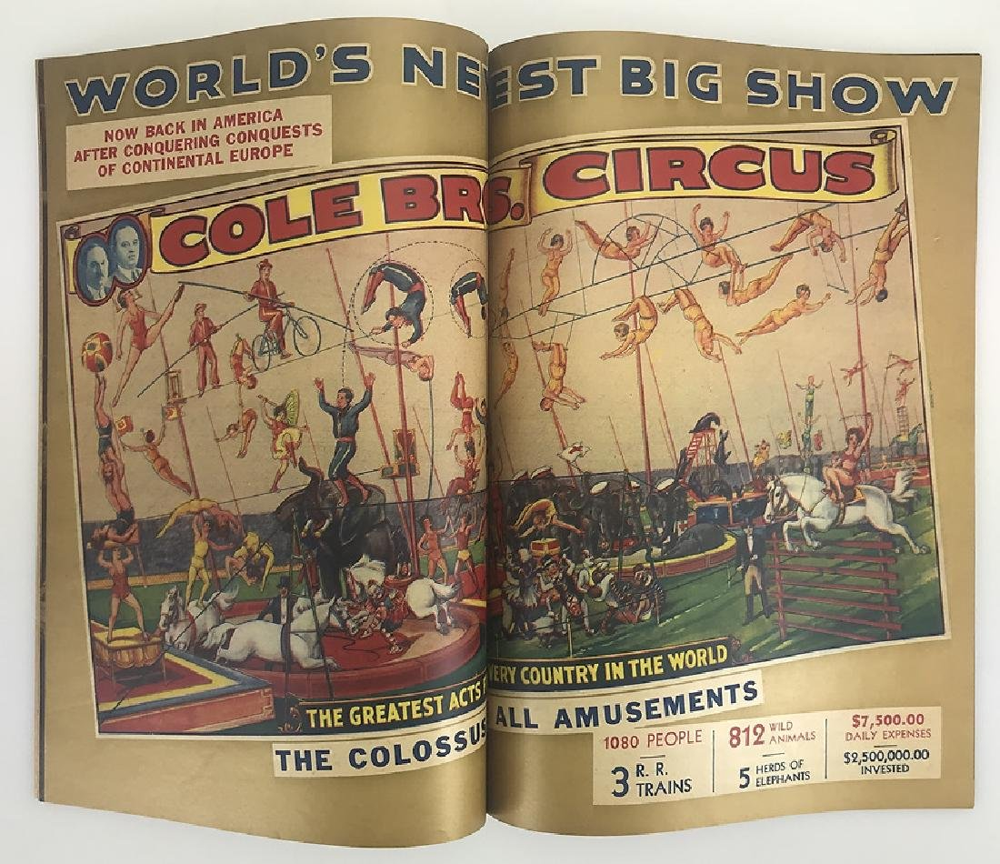 2pcs Antique Circus Programs RINGLING BROS & BARNUM & - 7