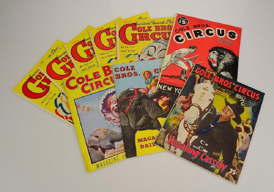 9V Collectible Circus Programs VINTAGE & ANTIQUE COLE