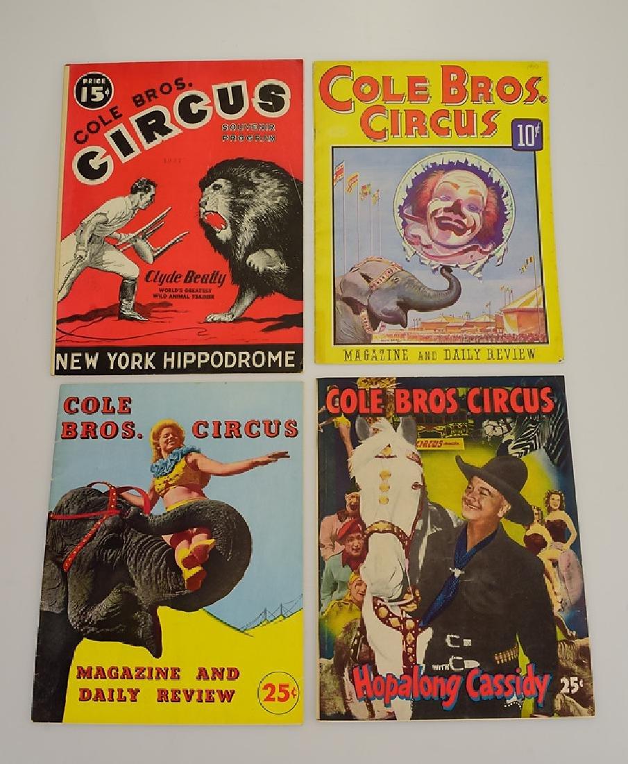 9V Collectible Circus Programs VINTAGE & ANTIQUE COLE - 3