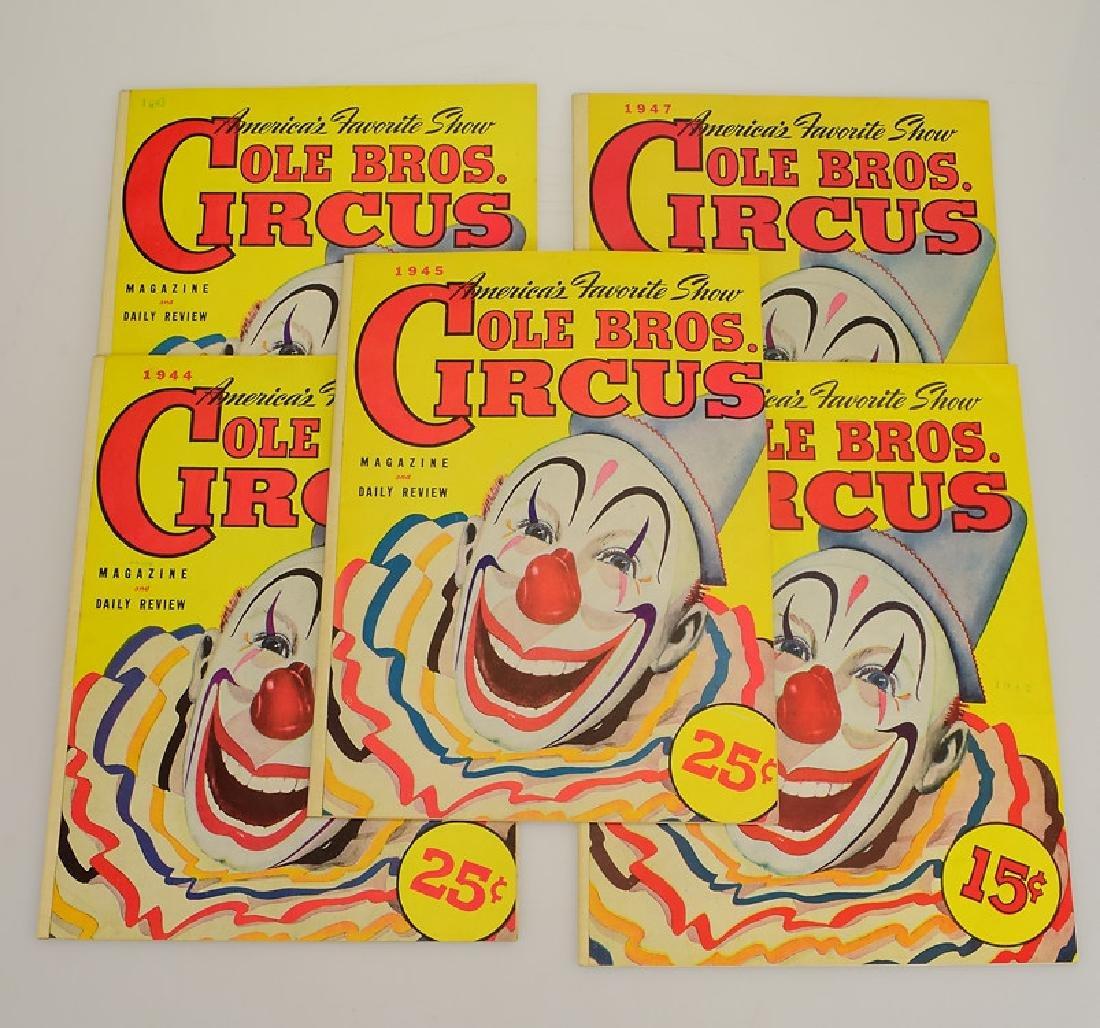 9V Collectible Circus Programs VINTAGE & ANTIQUE COLE - 4