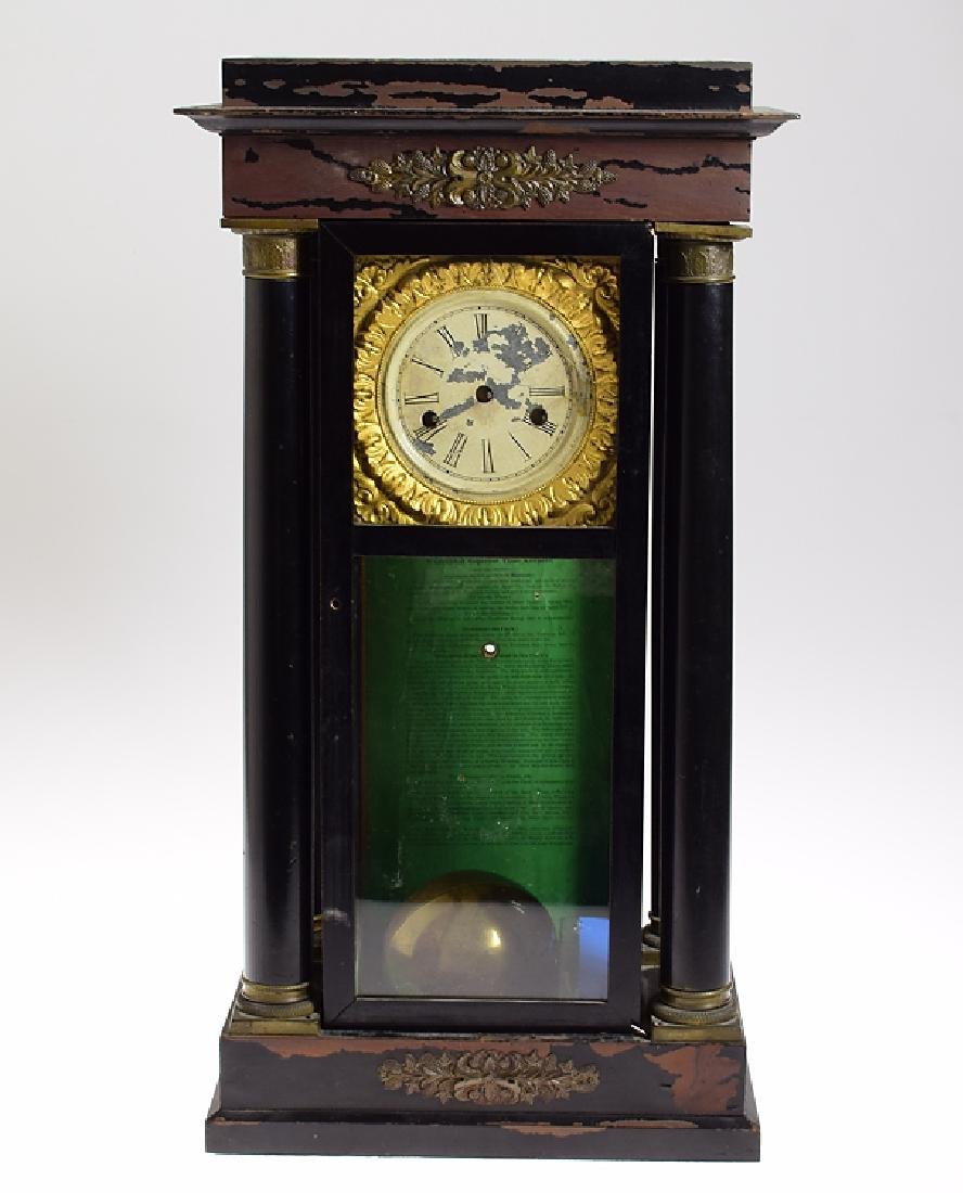 Early Year Clock ANTIQUE 400-DAY TORSION ANNIVERSARY