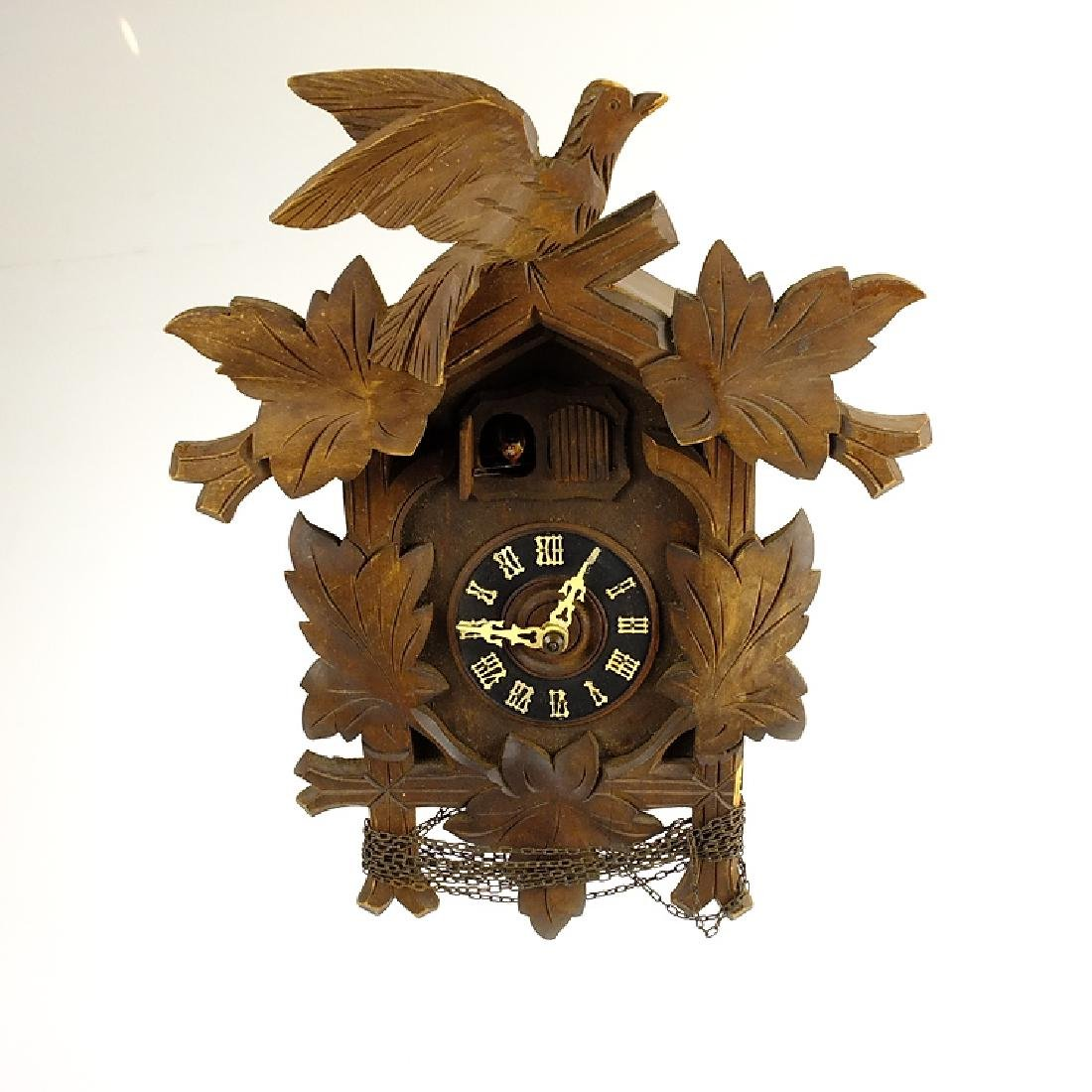 Vintage Cuckoo Clock BLACK FOREST GERMAN HAND CARVED